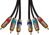 3-wire high quality RCA video Cables