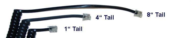 tail length of Telephone Handset Cords